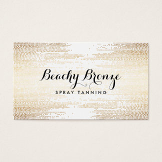 Golden Bronze Confetti Dots Business Card