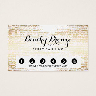 Golden Bronze Confetti Dots Salon Punch Card