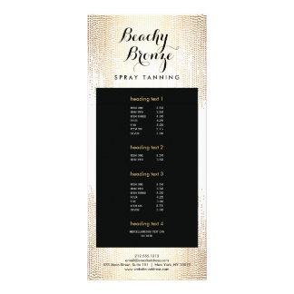 Golden Bronze Confetti Dots Salon Rack Card