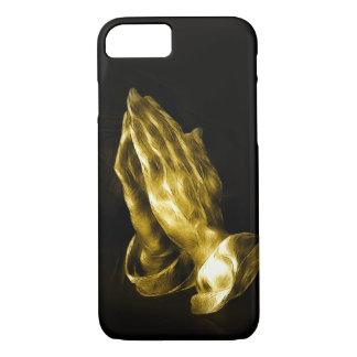 Golden bronzed praying hands iPhone 7 case