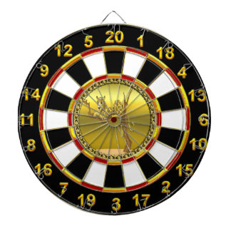 Golden brown cartoon spotted leopard dartboard