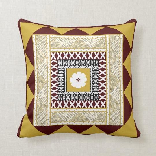 Golden Brown Framed Throw Pillow