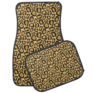 Golden Brown Jaguar Animal Skin Print Pattern Car Mat