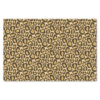 Golden Brown Jaguar Wild Animal Print Pattern Tissue Paper