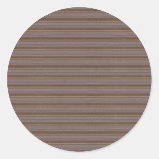 Golden Brown Lines NVN307 FUN DECO Sparkle glow Classic Round Sticker