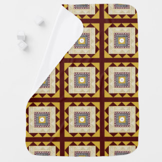 Golden Brown Masi Quilt Square Stroller Blankets