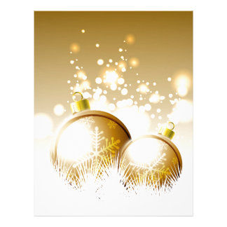 Golden brown new year decoration with snow letterhead