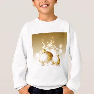 Golden brown new year decoration with snow sweatshirt