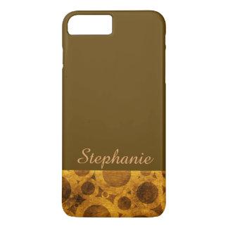 Golden Brown Steampunk iPhone 8/7 Plus Case