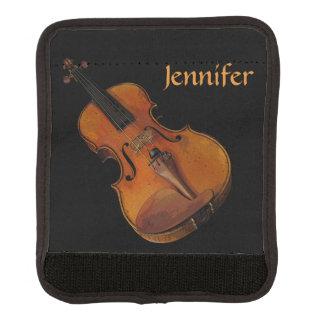 Golden Brown Violin Luggage Handle Wrap