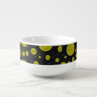 Golden Bubbles Soup Mug