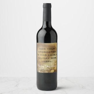 Golden Bubbles  Wine Label