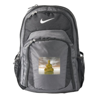Golden buddha - 3D render Backpack
