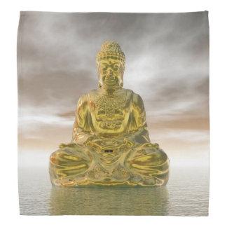 Golden buddha - 3D render Bandana