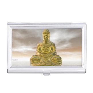 Golden buddha - 3D render Business Card Holder