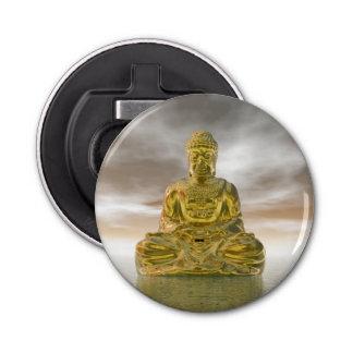 Golden buddha - 3D render Button Bottle Opener