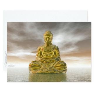 Golden buddha - 3D render Card