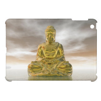 Golden buddha - 3D render Cover For The iPad Mini