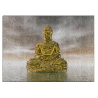 Golden buddha - 3D render Cutting Board