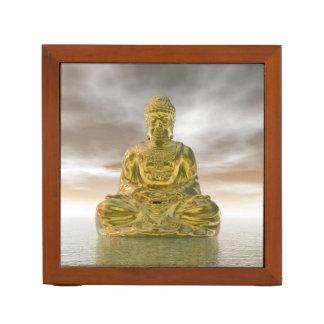Golden buddha - 3D render Desk Organizer