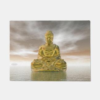 Golden buddha - 3D render Doormat