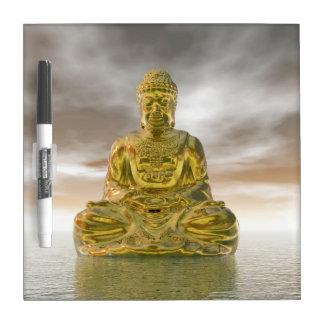 Golden buddha - 3D render Dry Erase Board