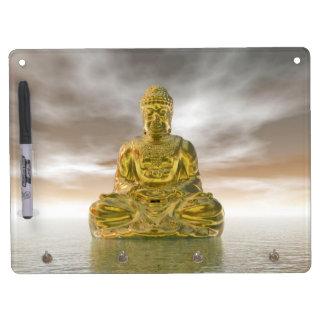 Golden buddha - 3D render Dry Erase Board With Keychain Holder