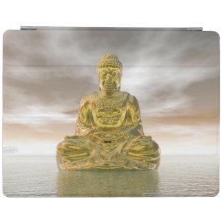 Golden buddha - 3D render iPad Cover
