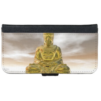 Golden buddha - 3D render iPhone 6 Wallet Case
