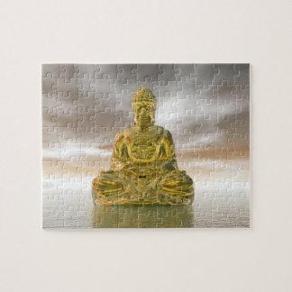 Golden buddha - 3D render Jigsaw Puzzle