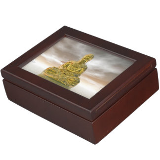 Golden buddha - 3D render Keepsake Box