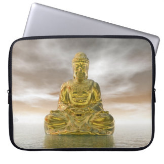 Golden buddha - 3D render Laptop Sleeve