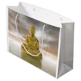 Golden buddha - 3D render Large Gift Bag