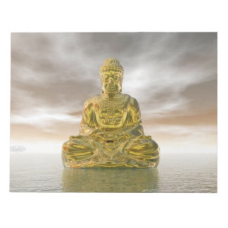 Golden buddha - 3D render Notepad