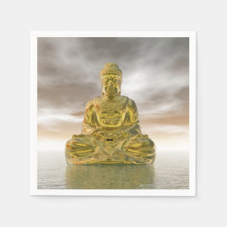 Golden buddha - 3D render Paper Napkin