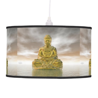 Golden buddha - 3D render Pendant Lamp
