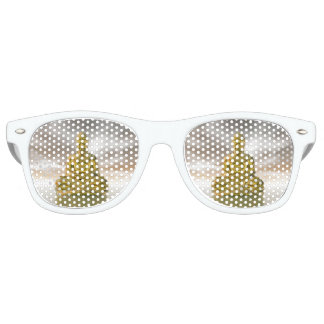 Golden buddha - 3D render Retro Sunglasses