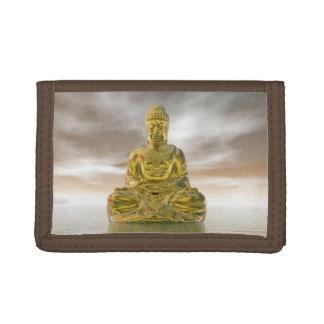Golden buddha - 3D render Tri-fold Wallet