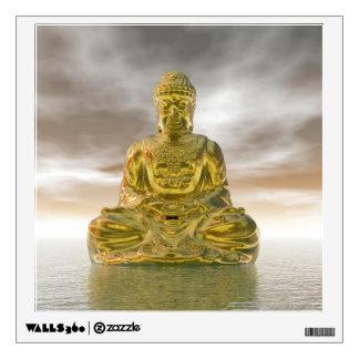 Golden buddha - 3D render Wall Decal