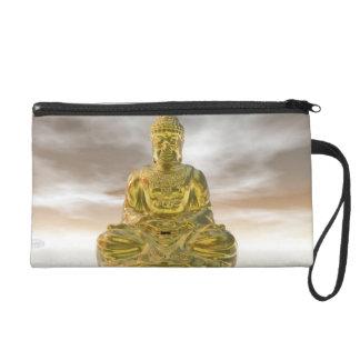 Golden buddha - 3D render Wristlet