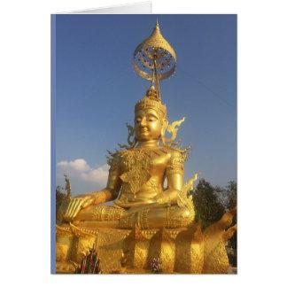 Golden Buddha at Wat Doi Saket, Chiang Mai Card
