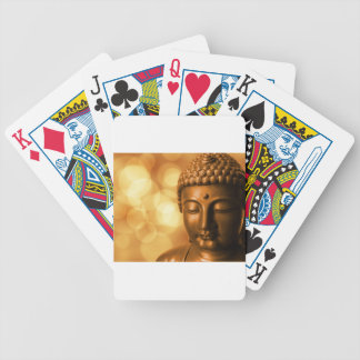 Golden Buddha Bicycle Playing Cards