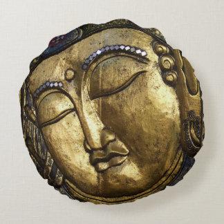 Golden Buddha Blessing Inspirational Pillow