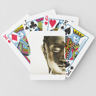 Golden Buddha Head Bicycle Playing Cards