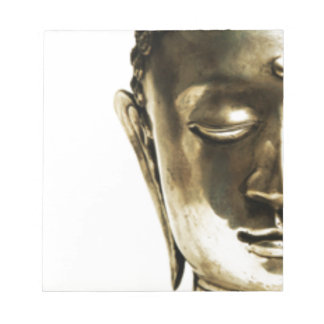 Golden Buddha Head Notepad
