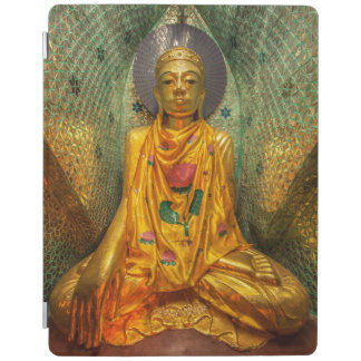 Golden Buddha In Temple iPad Cover