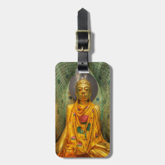 Golden Buddha In Temple Luggage Tag