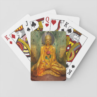 Golden Buddha In Temple Playing Cards