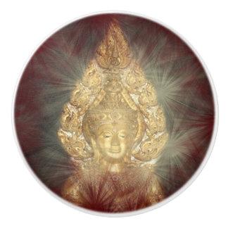 golden buddha knopp ceramic knob