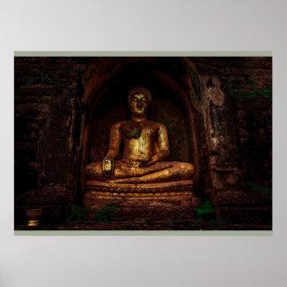 Golden Buddha posters